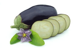 Cut eggplants Stock Photo