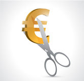 Cut euro prices. concept illustration design Royalty Free Stock Photography