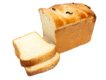Cut fancy bread with raisin Royalty Free Stock Photography