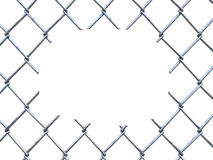 Cut fence Royalty Free Stock Images