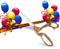 Cut festive ribbon Royalty Free Stock Image