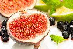 Cut fig Stock Images