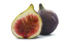 Cut fig isolated Stock Images