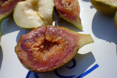Cut fig Stock Photos