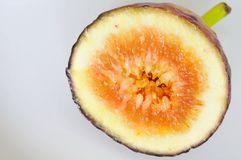 Cut fig to show texture Stock Photography