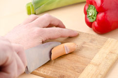 Cut in the finger Royalty Free Stock Photos