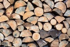 Cut firewood closeup Stock Photography