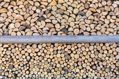 Cut firewood closeup Royalty Free Stock Photos