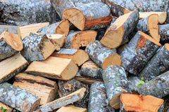 Cut firewood Royalty Free Stock Photography