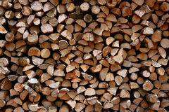 Cut firewood stack logs as pattern Royalty Free Stock Images