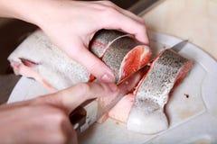 Cut fish Stock Photos