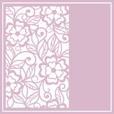 Cut floral   card Royalty Free Stock Photos