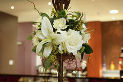 Cut Flowers in Vase stock photos