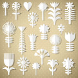 Cut flowers of white paper Stock Photo
