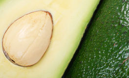 Cut fresh avocado with a seed Royalty Free Stock Photo