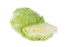 Cut fresh cabbage on white Royalty Free Stock Image