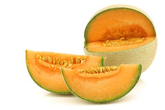 Cut fresh cantaloupe melon Stock Photography