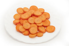 Cut fresh carrots Royalty Free Stock Photography