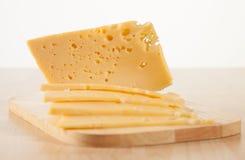 Cut fresh cheese Stock Photography