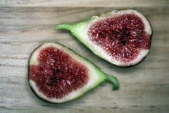 Cut  fresh fig Stock Photography