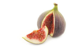 A cut fresh fig Stock Photos