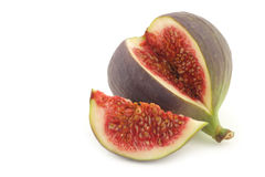 A cut fresh fig Stock Photo