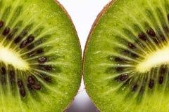 Cut fresh fruit kiwi - close-up Royalty Free Stock Photos