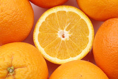 Cut fresh orange Stock Images