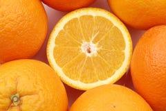 Cut fresh orange Stock Images