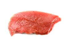 Cut of fresh raw meat.. Cut of fresh raw meat isolated on white Royalty Free Stock Images