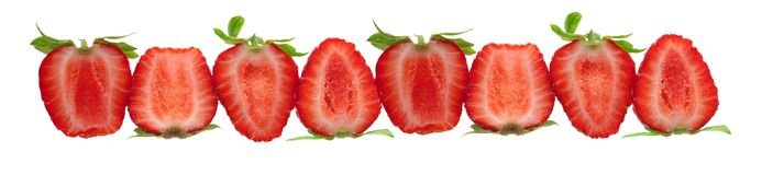 Cut fresh strawberries Stock Photo