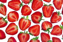 Cut fresh strawberry Stock Photos