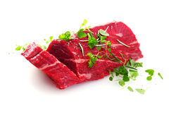 Cut of fresh uncooked fillet steak Stock Image