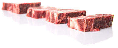 Cut Frozen Beef Meat Chunk VII Royalty Free Stock Images
