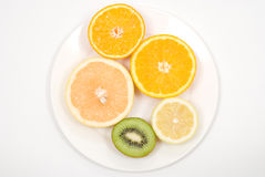 Cut fruits Royalty Free Stock Photos