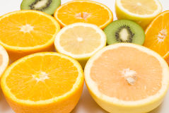 Cut fruits Stock Image