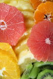 Cut fruits. A layout with colorful cut fruits Stock Photo