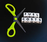 Cut fuel costs Royalty Free Stock Images