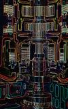 Cut through gearbox. Engine schematic Royalty Free Illustration