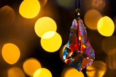 Cut glass decoration in front of xmas tree Stock Image
