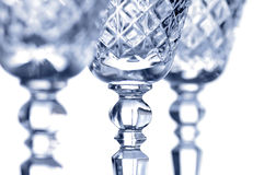 Cut glass goblets Stock Photo