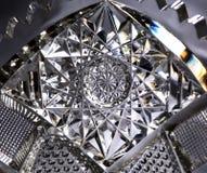 Cut glass--macro. Close-up of cut-glass bowl Stock Image