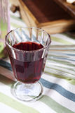 Cut glass of red wine Royalty Free Stock Photos