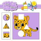 Cut and glue. Education developing worksheet. Activity page. Game for children. Isolated vector illustration in cute cartoon style.  vector illustration