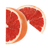 Cut grapefruit fruits slices  with clipping path Royalty Free Stock Photography