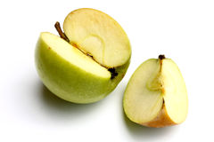 Cut Green Apple Stock Photos