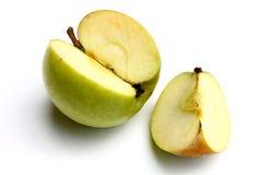 Cut Green Apple Stock Photos