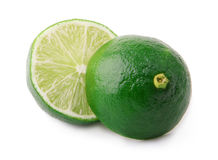 Cut green lime isolated on white background Stock Image