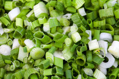 Cut green onion Stock Photo