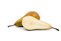 Cut green pear Stock Image